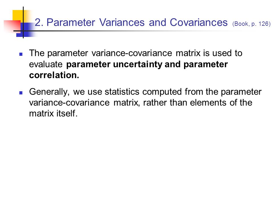 2. Parameter Variances and Covariances (Book, p. 126)