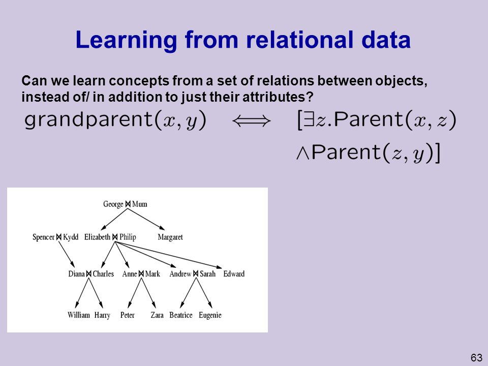 Learning from relational data