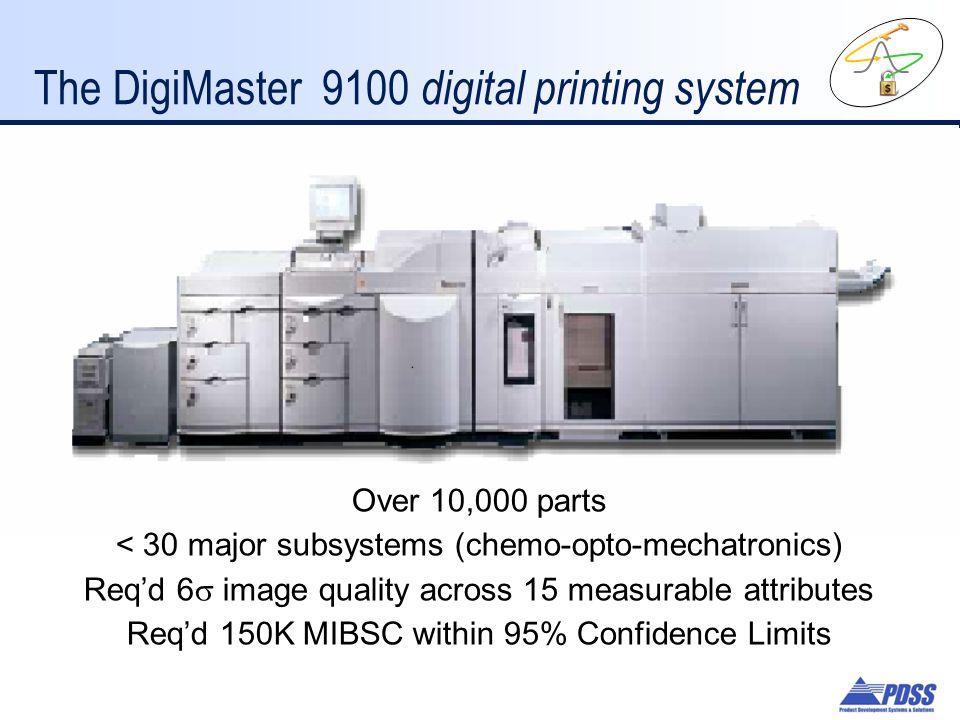 The DigiMaster 9100 digital printing system