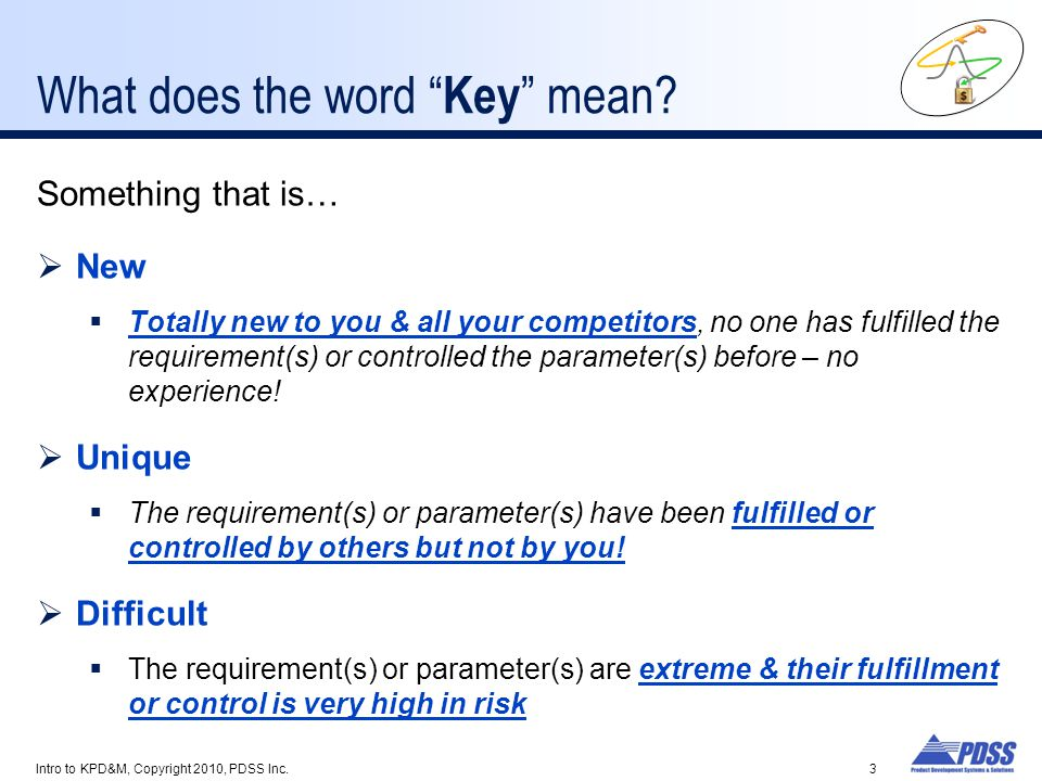 What does the word Key mean
