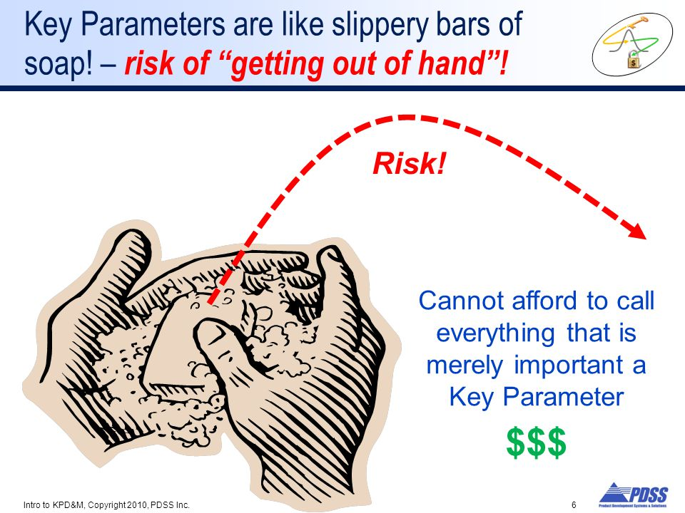 Key Parameters are like slippery bars of soap