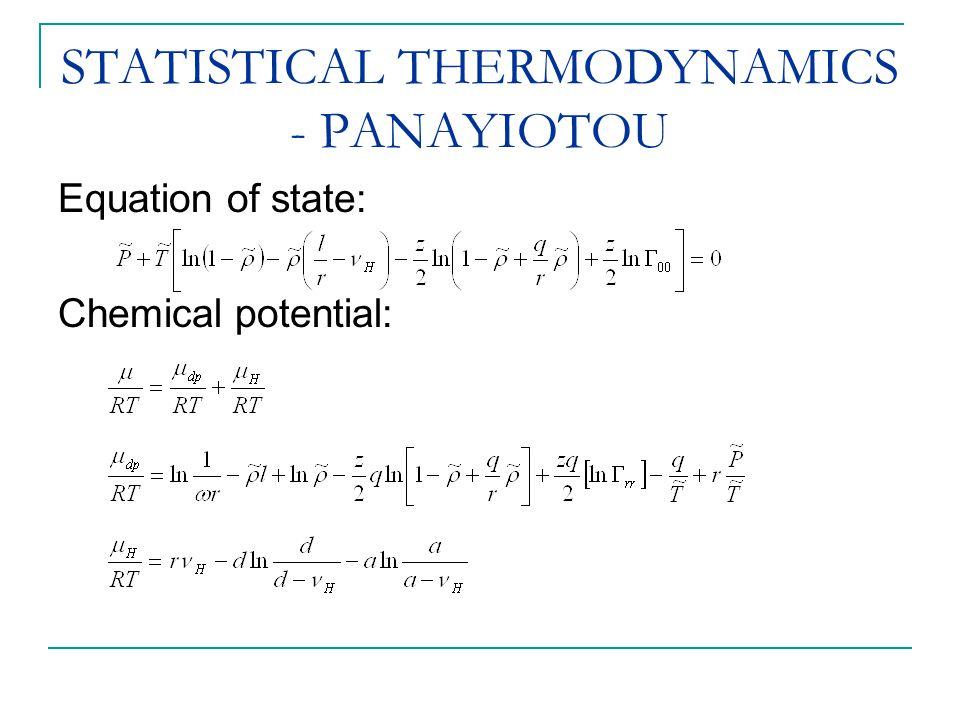 STATISTICAL THERMODYNAMICS - PANAYIOTOU