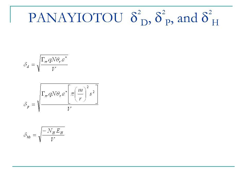 PANAYIOTOU 2D, 2P, and 2H