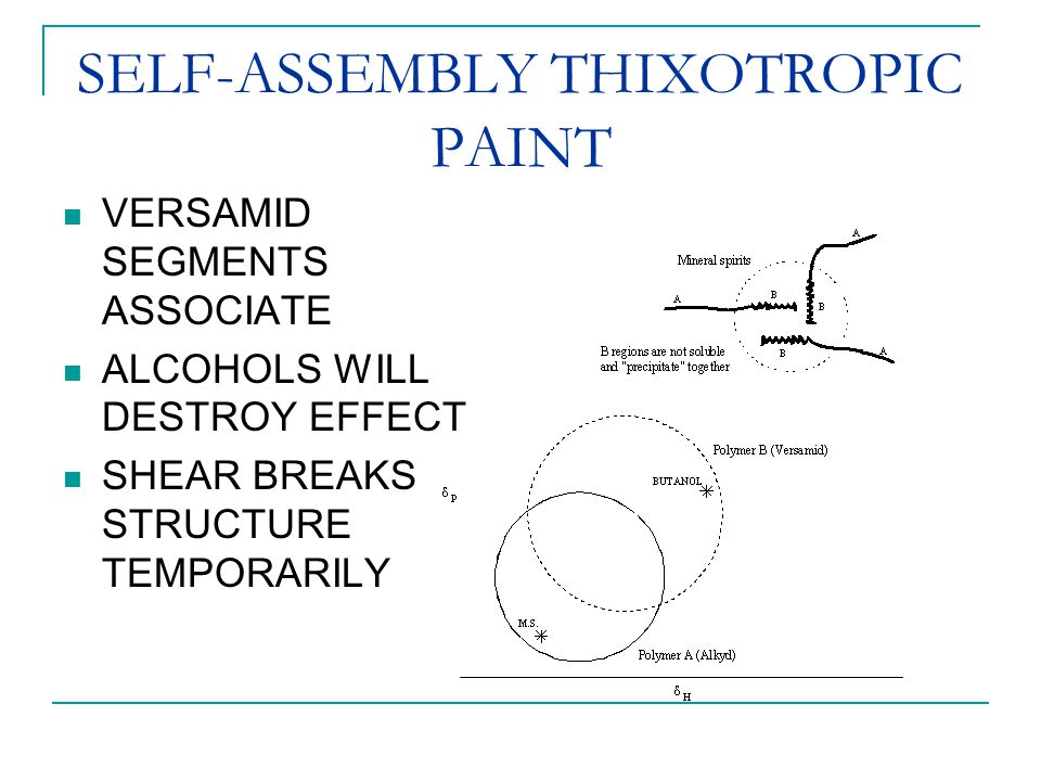 SELF-ASSEMBLY THIXOTROPIC PAINT