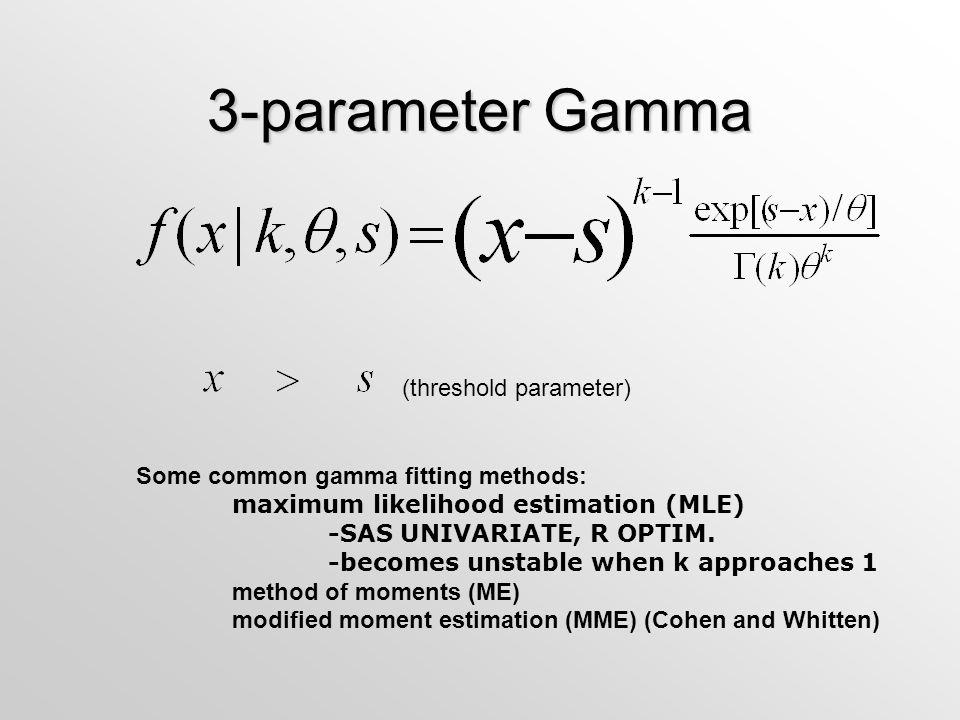3-parameter Gamma (threshold parameter)