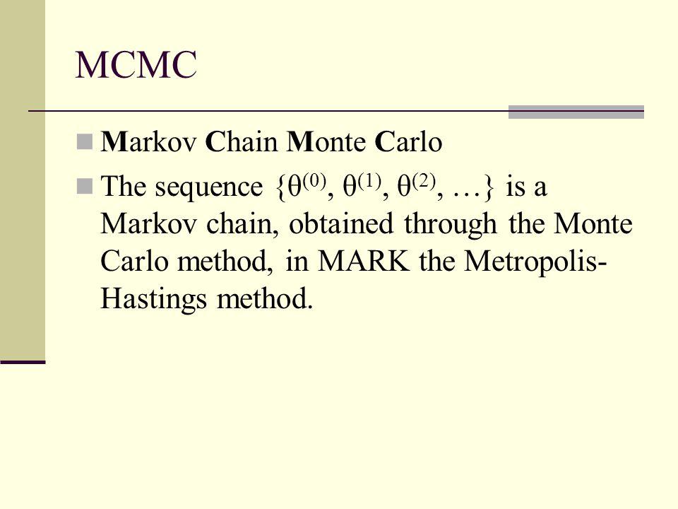 MCMC Markov Chain Monte Carlo