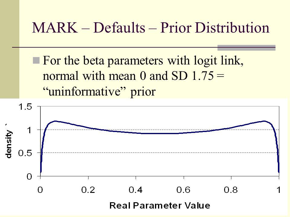 MARK – Defaults – Prior Distribution