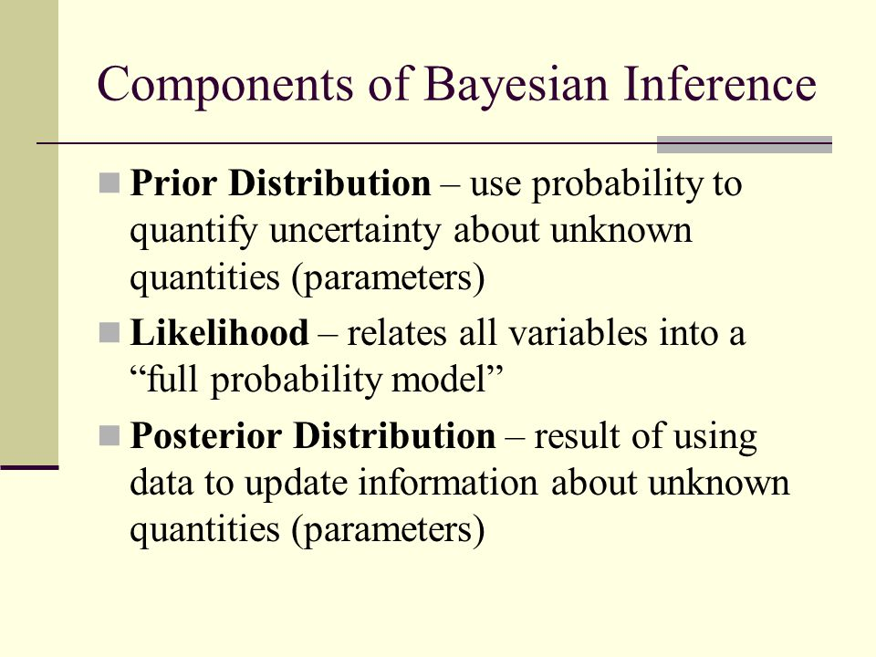 Components of Bayesian Inference