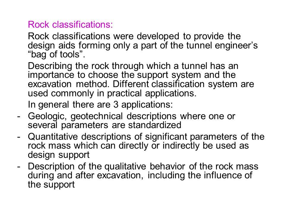 Rock classifications: