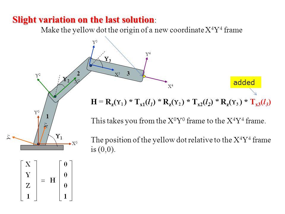 Slight variation on the last solution: