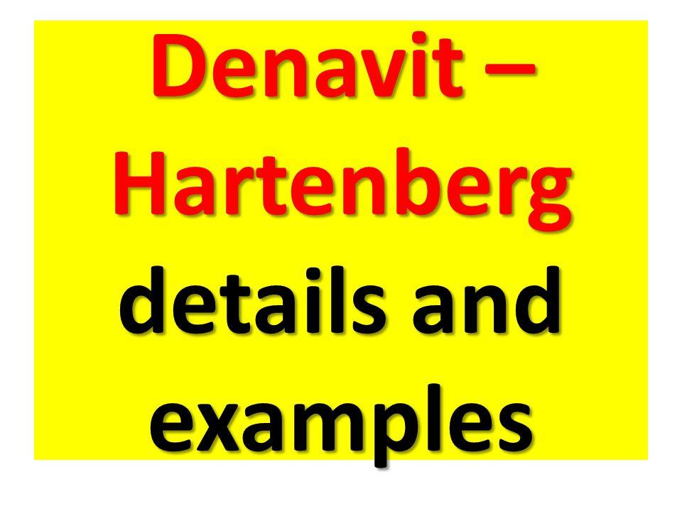 Denavit – Hartenberg details and examples