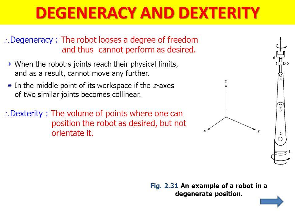 DEGENERACY AND DEXTERITY
