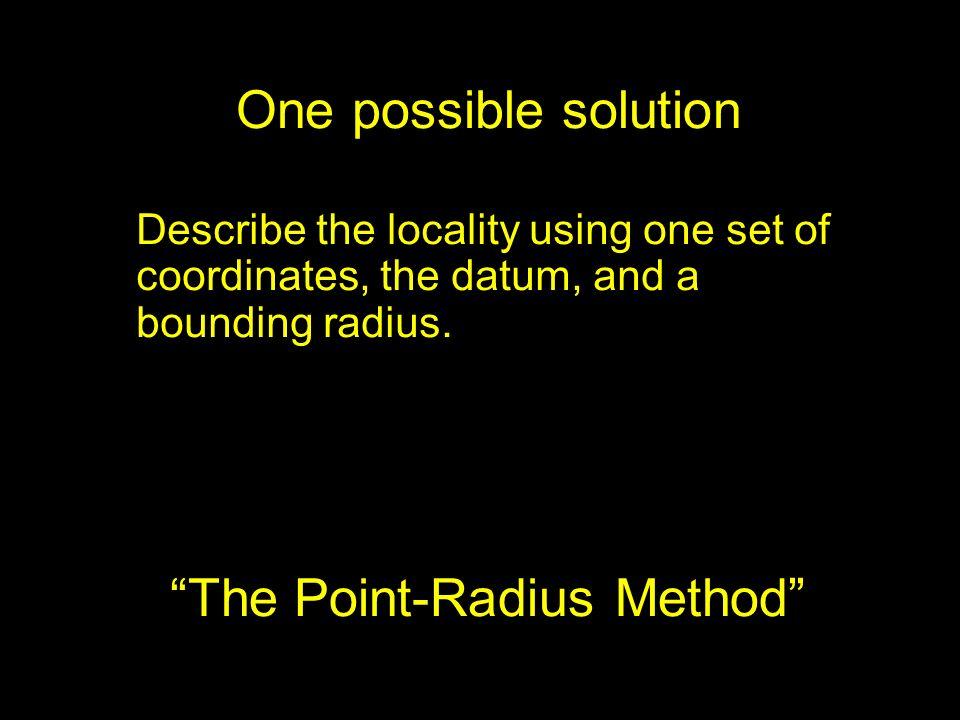 The Point-Radius Method