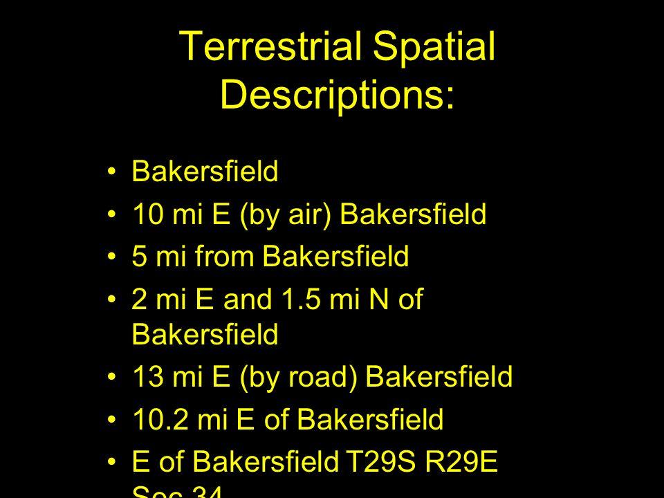 Terrestrial Spatial Descriptions: