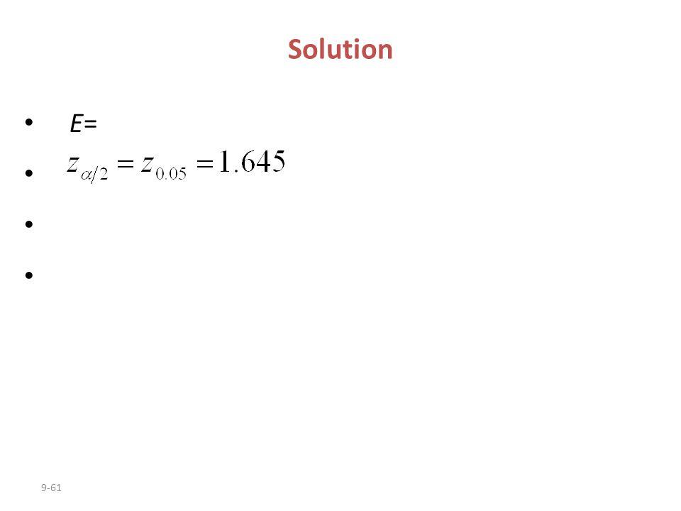 Solution E=