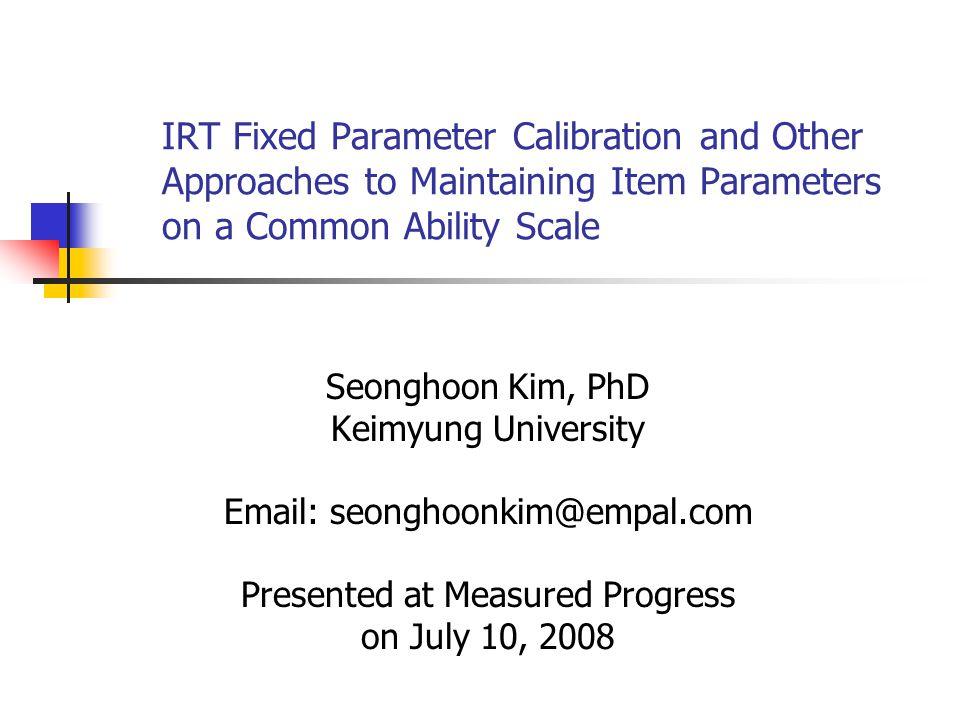 Presented at Measured Progress