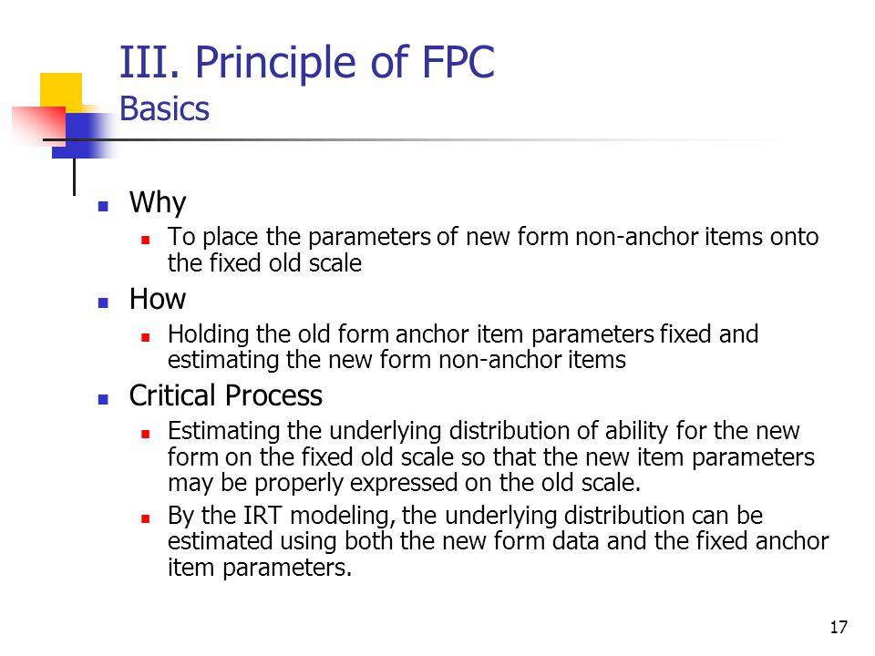 III. Principle of FPC Basics