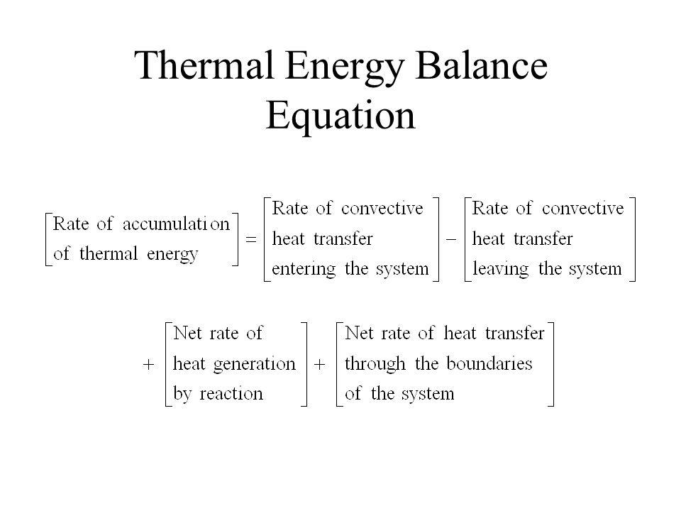 Thermal Energy Balance Equation