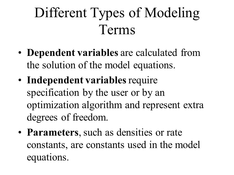Different Types of Modeling Terms