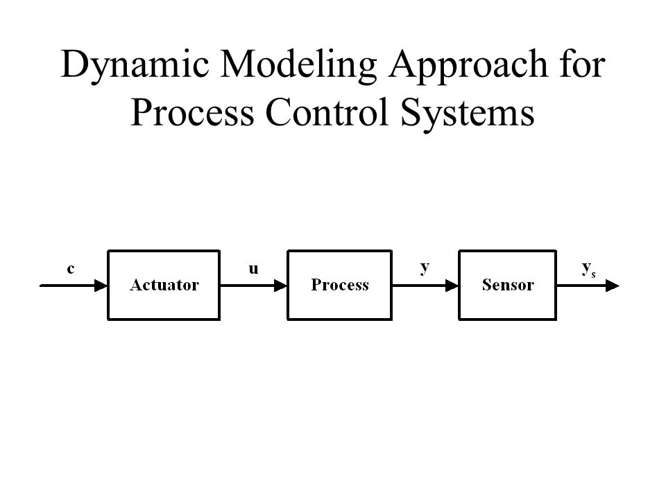 Dynamic Modeling Approach for Process Control Systems