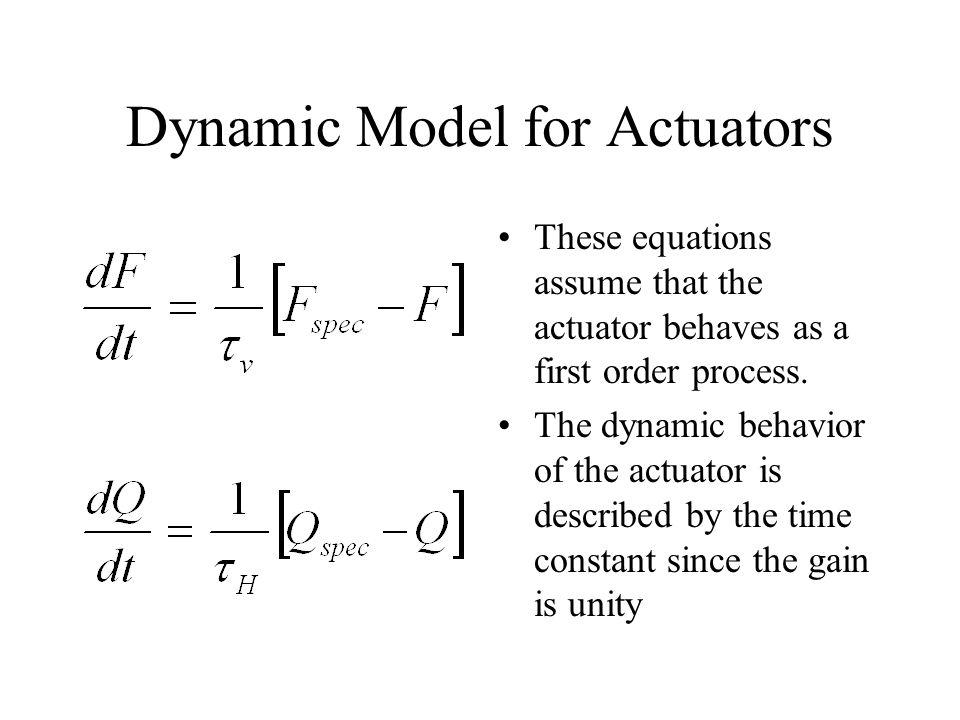 Dynamic Model for Actuators