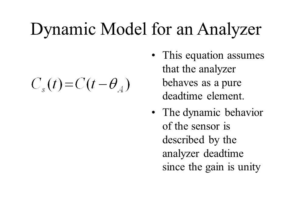 Dynamic Model for an Analyzer