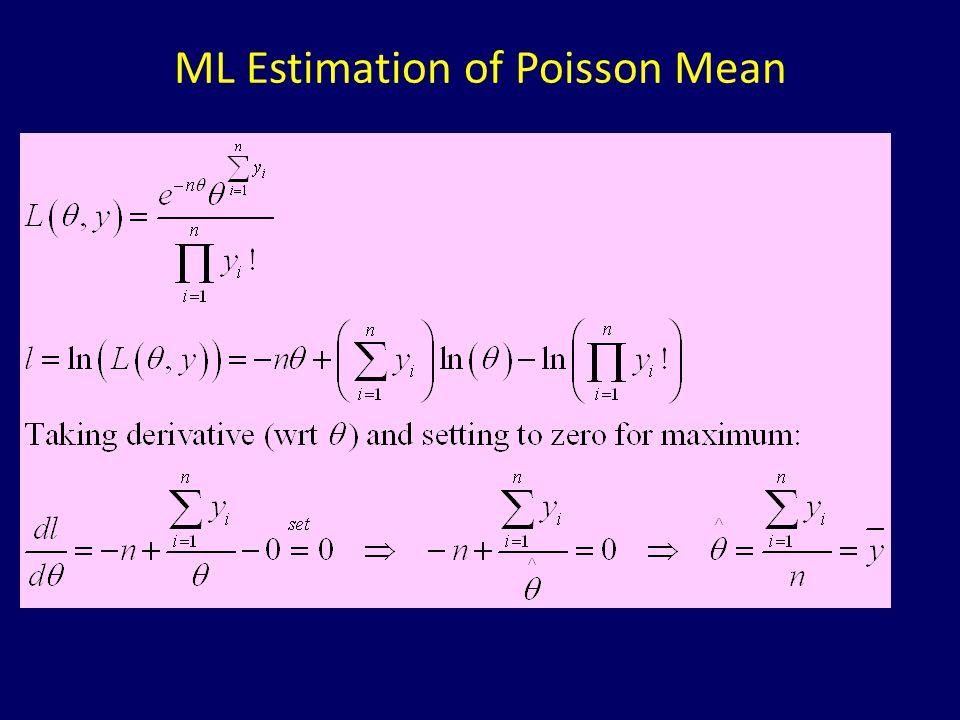 ML Estimation of Poisson Mean