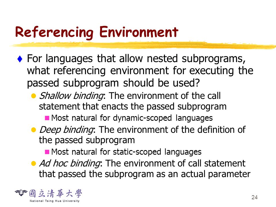 Referencing Environment