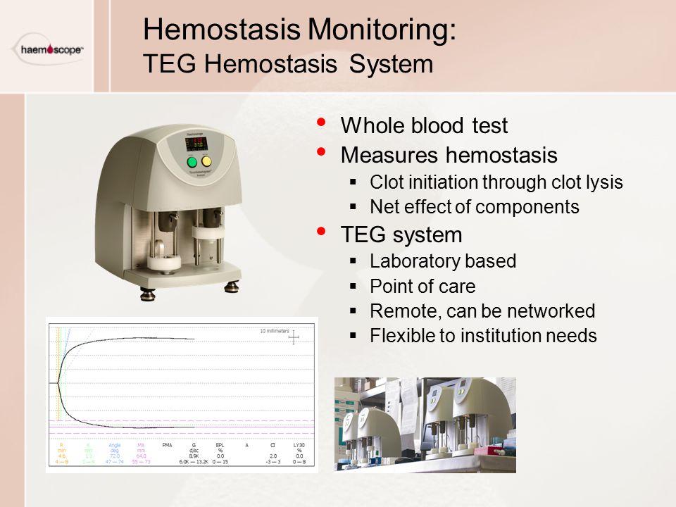 Hemostasis Monitoring: TEG Hemostasis System