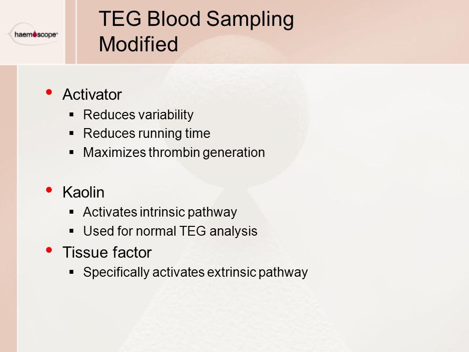 TEG Blood Sampling Modified