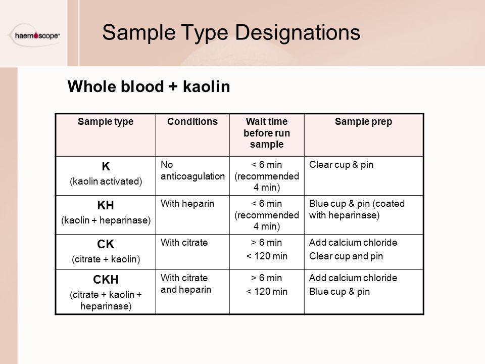 Sample Type Designations