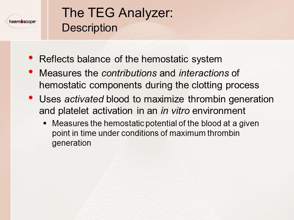 The TEG Analyzer: Description
