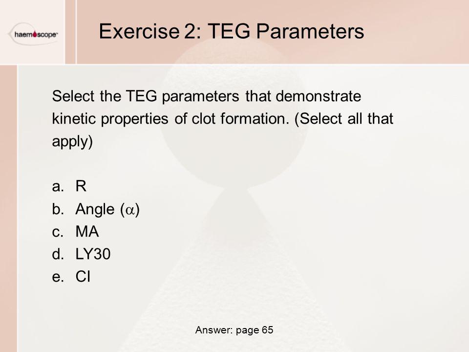 Exercise 2: TEG Parameters