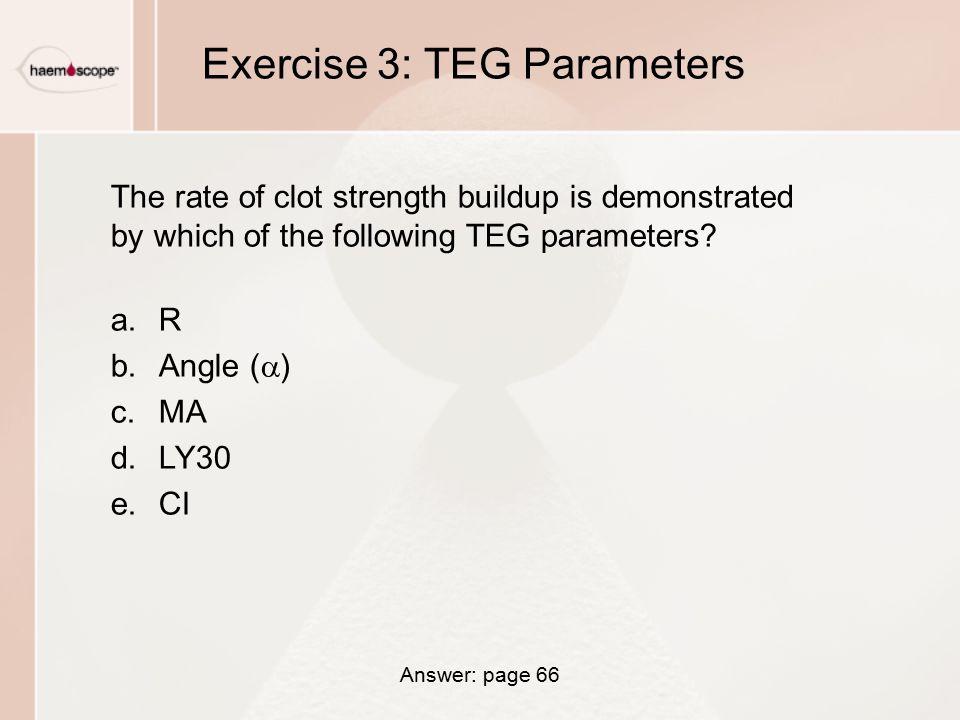Exercise 3: TEG Parameters