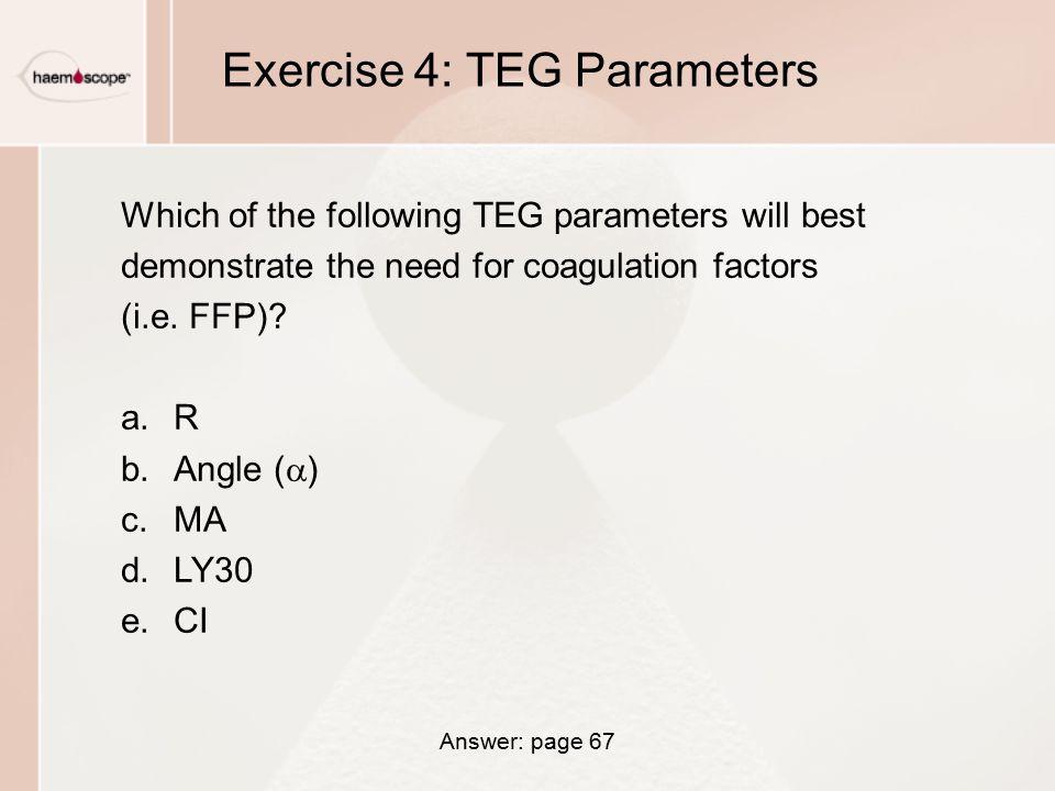 Exercise 4: TEG Parameters