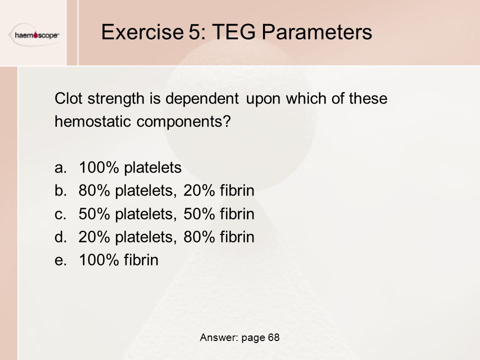 Exercise 5: TEG Parameters