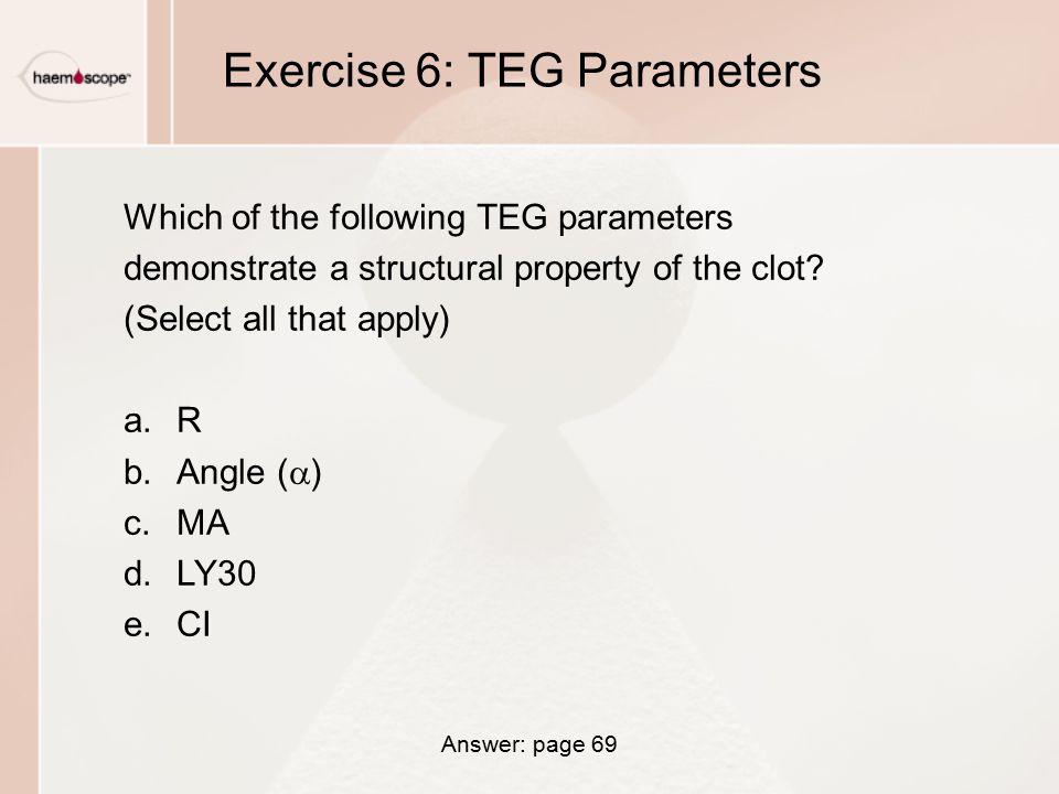 Exercise 6: TEG Parameters