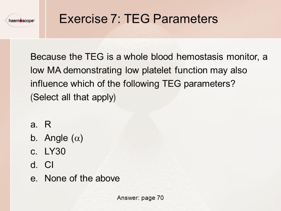 Exercise 7: TEG Parameters