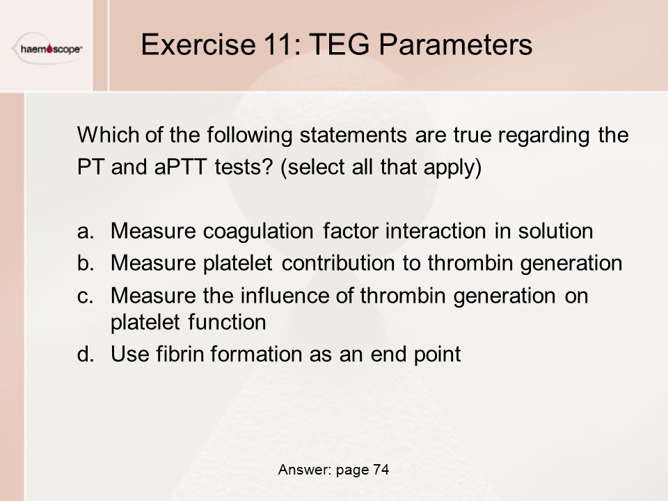 Exercise 11: TEG Parameters
