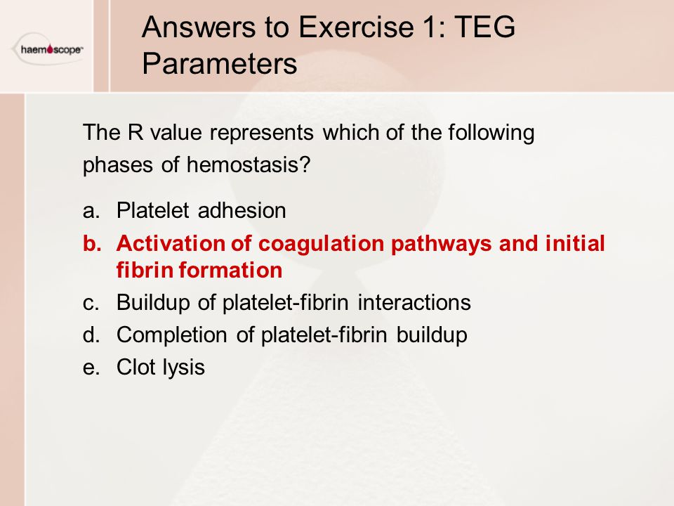 Answers to Exercise 1: TEG Parameters