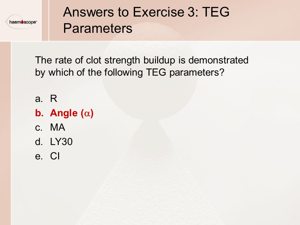 Answers to Exercise 3: TEG Parameters