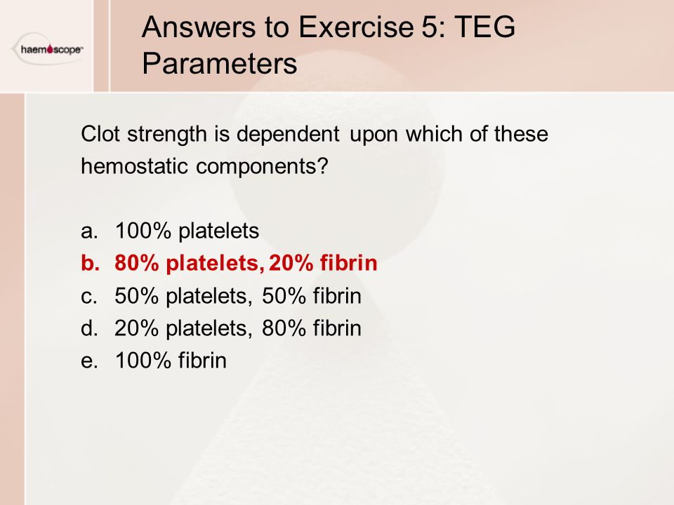Answers to Exercise 5: TEG Parameters