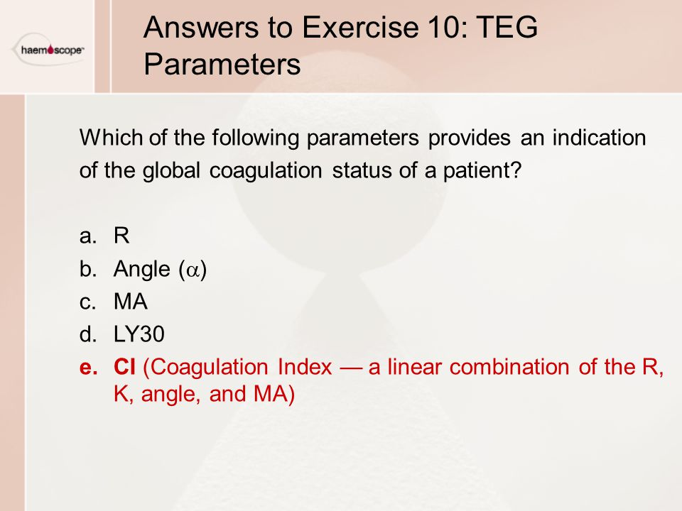 Answers to Exercise 10: TEG Parameters