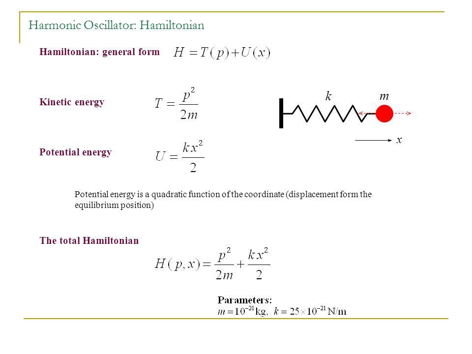 Harmonic Oscillator: Hamiltonian