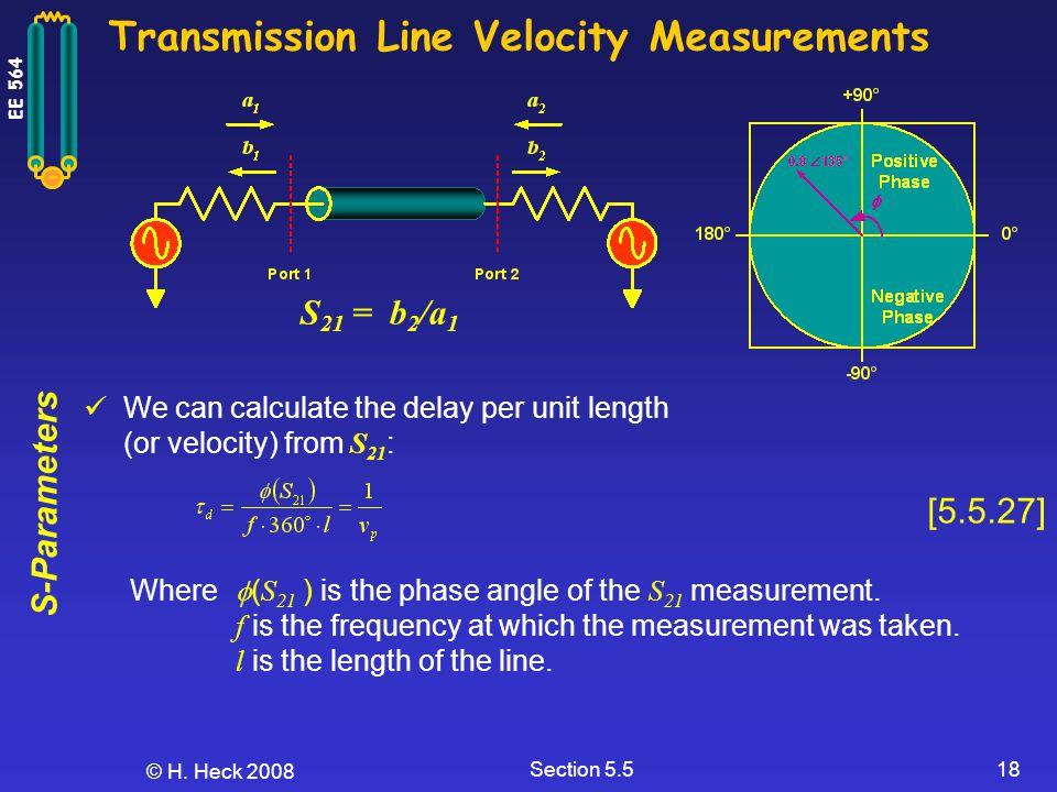 Transmission Line Velocity Measurements
