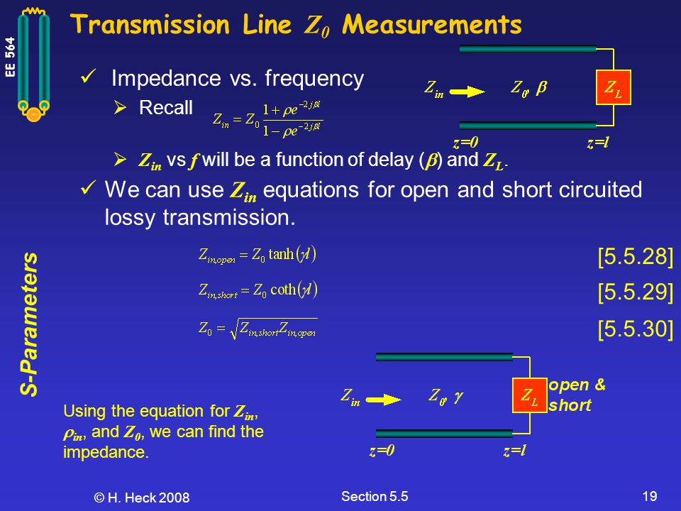 Transmission Line Z0 Measurements