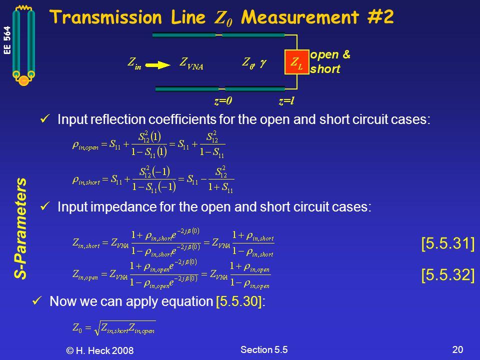 Transmission Line Z0 Measurement #2