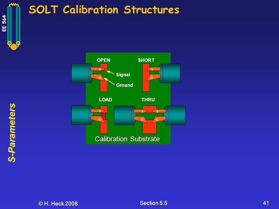 SOLT Calibration Structures