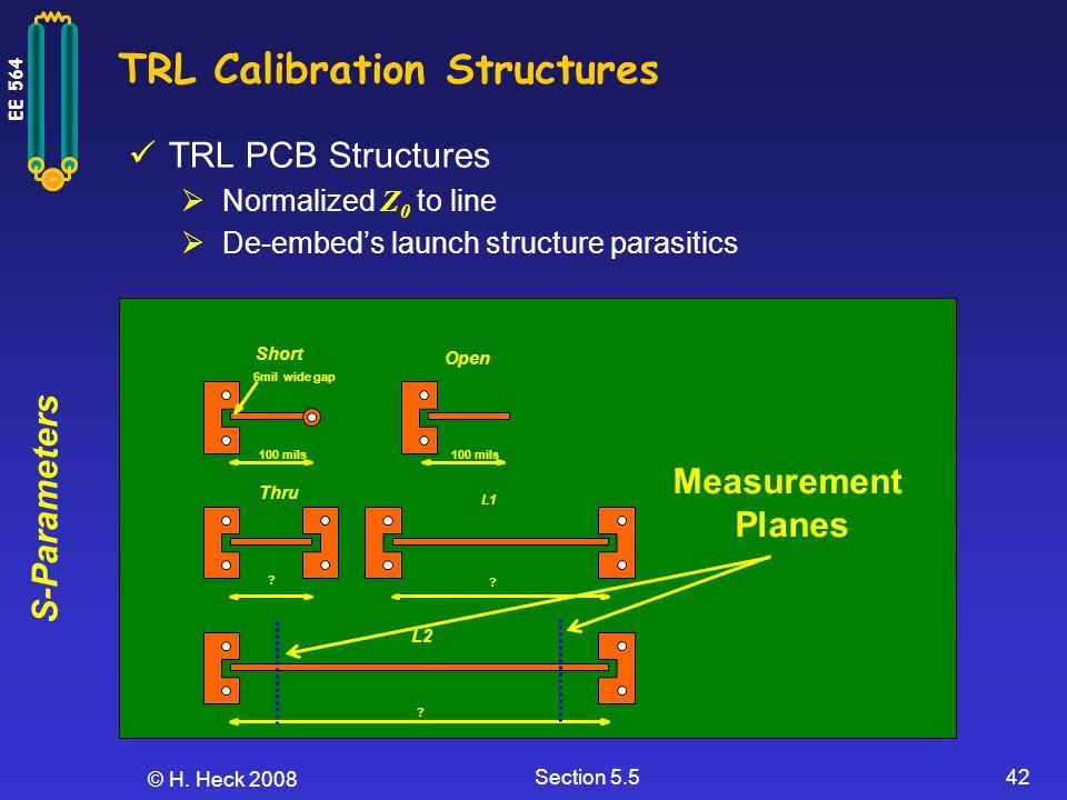 TRL Calibration Structures