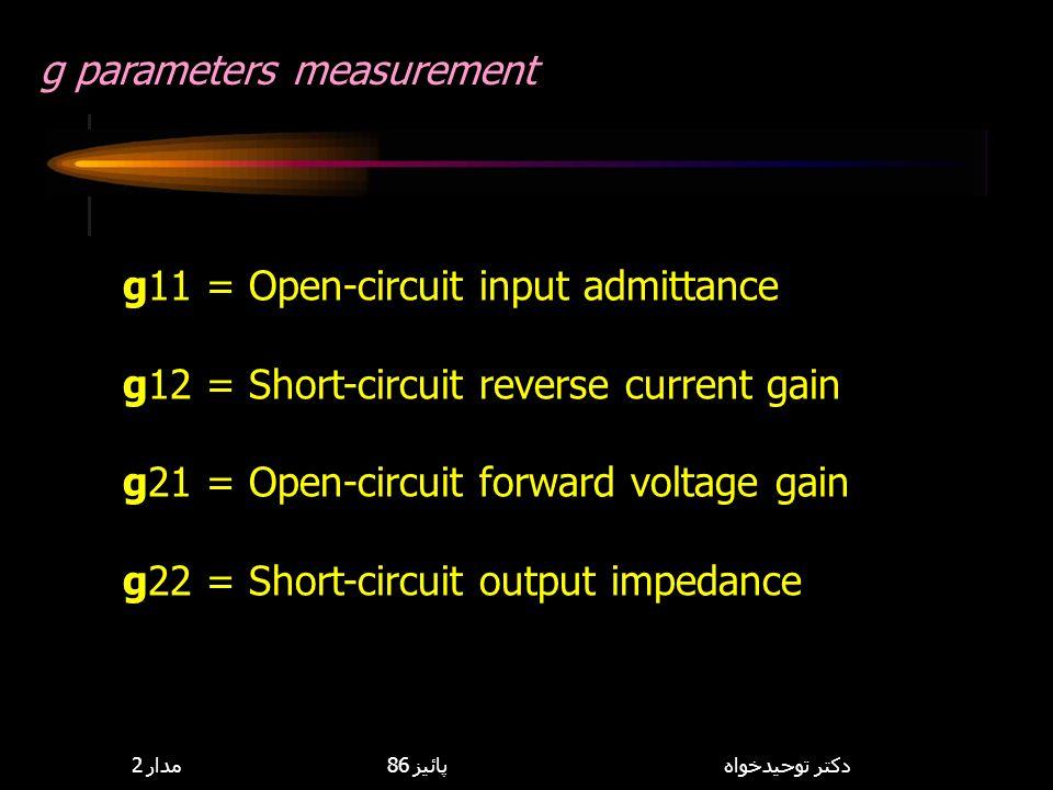 g parameters measurement